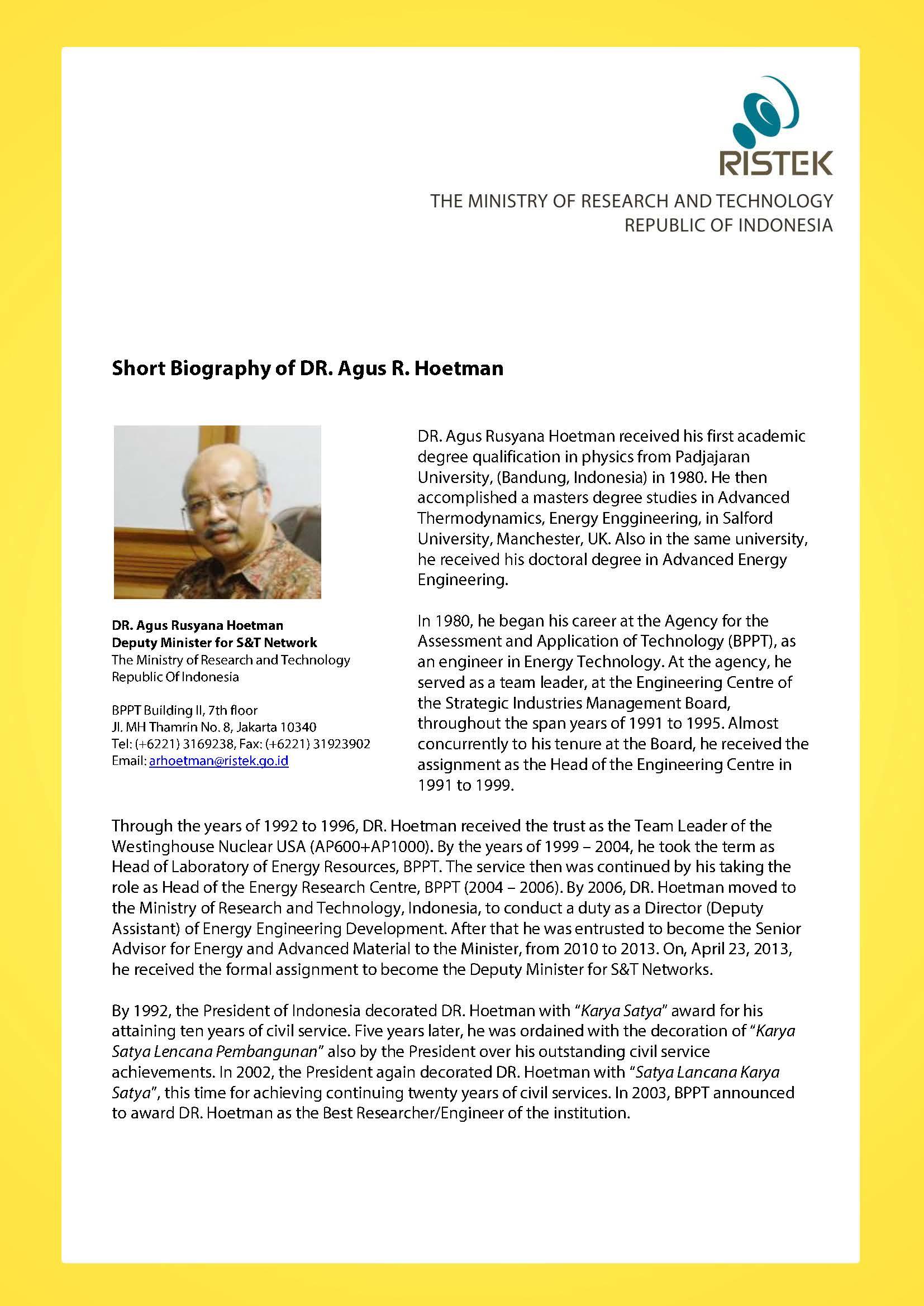Dr. Agus Hoetman « Open Science Meetings